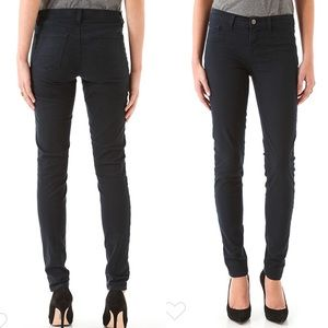 New J Brand Lux Twill Skinny Leg Jeans Navy